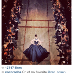 Coco Rocha engaging runway photo