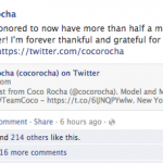 Coco Rocha on Facebook