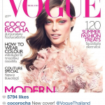 Cocoo Rocha showing her Vogue cover via Instagram